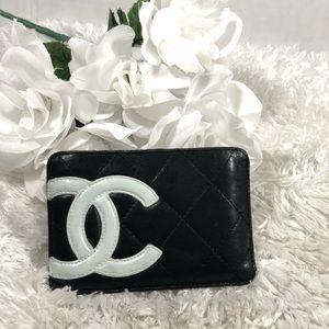 Chanel black cambon card holder
